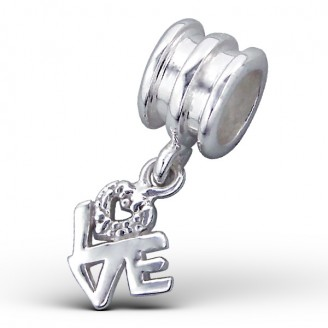 """Stříbrný korálek na Pandora náramek s přívěskem """"Symbol lásky"""". Ag 925/1000"""